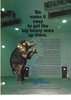 """""""We make it easy to get the big heavy ones up there"""" Ultra-Temp Ad 1994"""