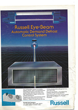 Russell Eye-Beam Automatic Demand Defrost Control System Ad circa 1980s