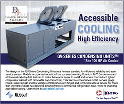 """""""Accessible Cooling"""" QV-Series Condensing Units with DDA Award Ad 2018"""