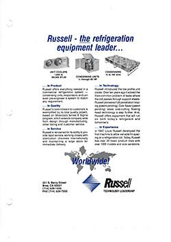 The Refrigeration Equipment Leader Ad 1983