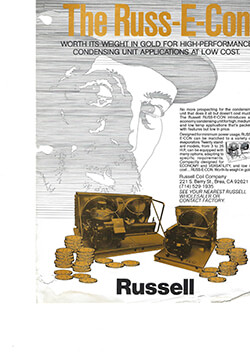 """""""Russ-E-Con Worth its weight in gold"""" Prospector Ad circa 1980s"""