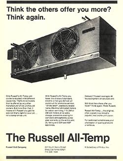 All-Temp Unit Coolers Ad 1976
