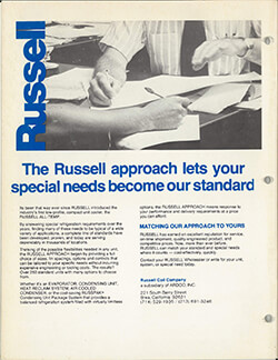 Russell Approach Ad circa 1980s