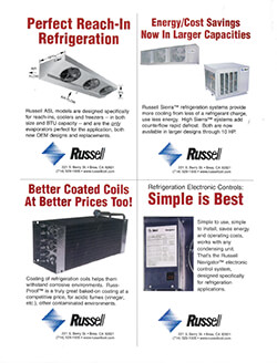 Russell Coil 4-product Ad circa 1995