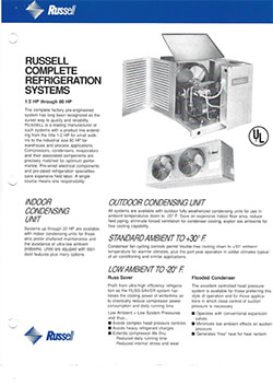 Russell Complete Refrigeration Systems Flyer 1993