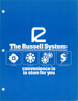 """Russell System """"Convenience is in store for you"""" Direct Mail Brochure Circa 1980s"""