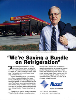 """""""We're Saving a Bundle on Refrigeration"""" Sierra Refrigeration Systems Ad and Article 1998"""