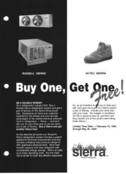 Sierra Product launch promotion flyer 1995