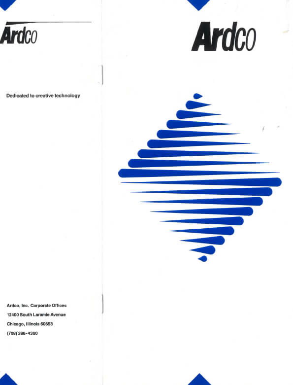 Ardco Company Brochure 1990
