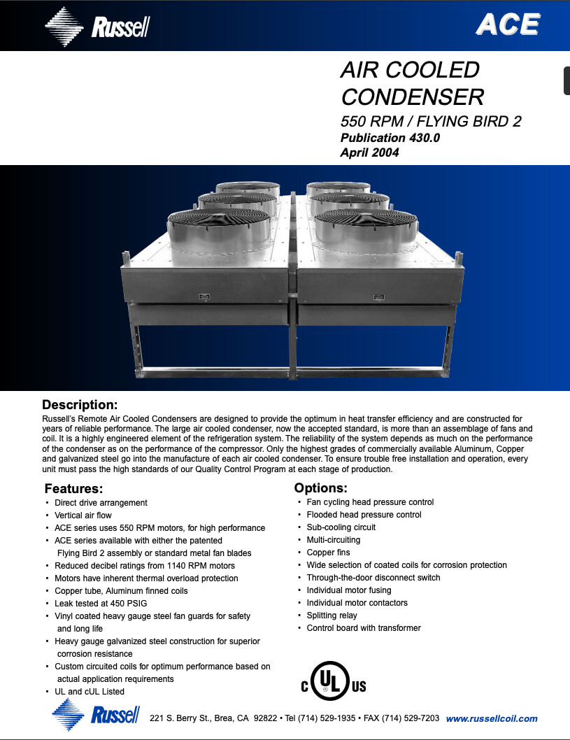 ACE Air Cooled Condenser Flying Bird2 2004