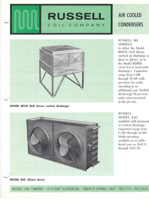 Air Cooled Condensers 1965