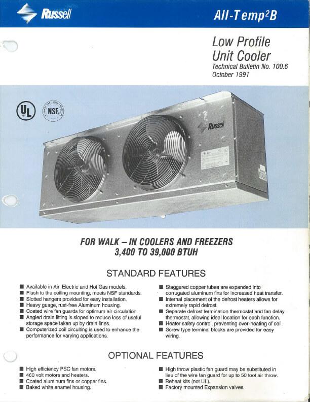 All-Temp2B Unit Cooler 1991
