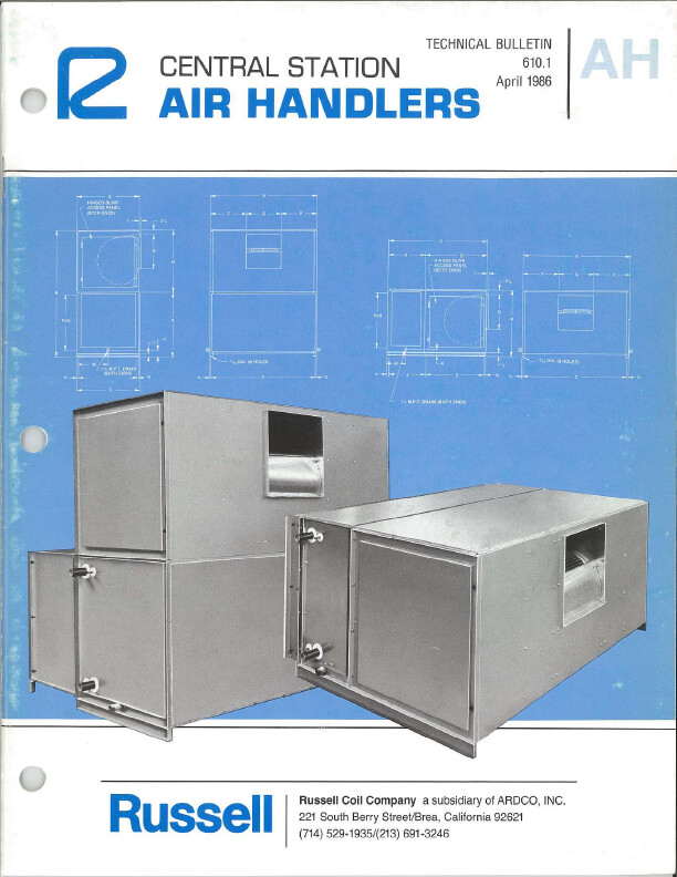 Central Station Air Handlers 1986