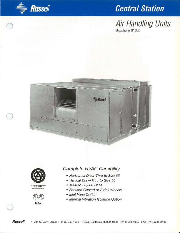 Central Station Air Handling Units 1993