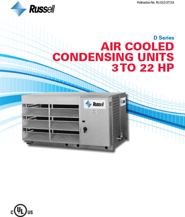 D-Series 3 to 22 HP Condensing Units 2012