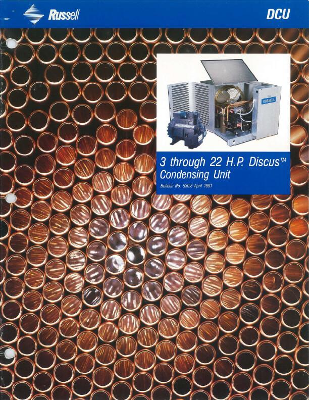 DCU 3 to 22 HP Condensing Units 1991