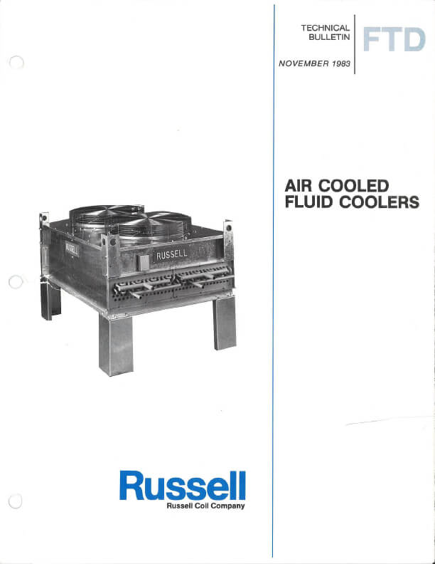 FTD Air Cooled Fluid Coolers 1983