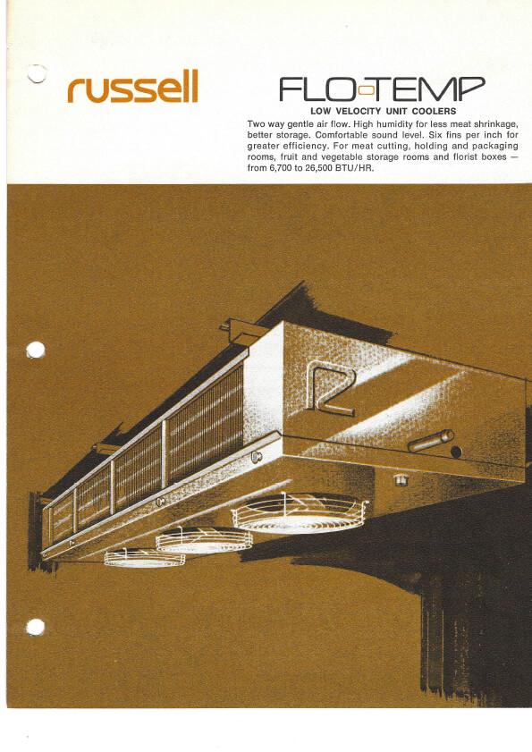 Flo-Temp Low Velocity Unit Coolers 1974