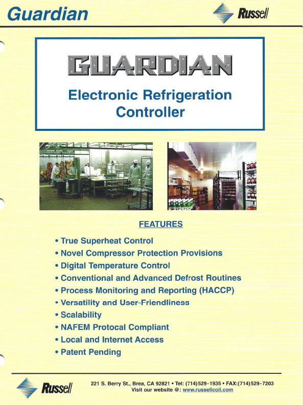 Guardian Electronic Refrigeration Controller 2005