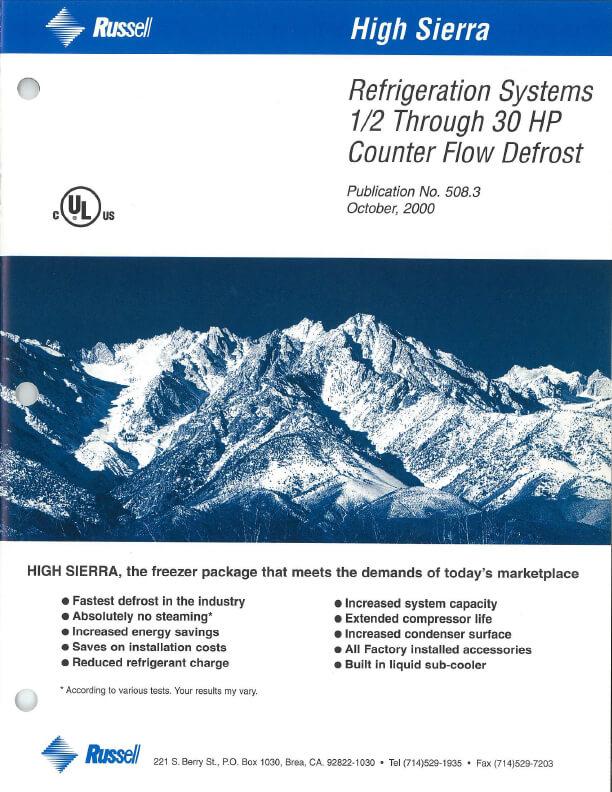 High Sierra Refrigeration Systems 2000