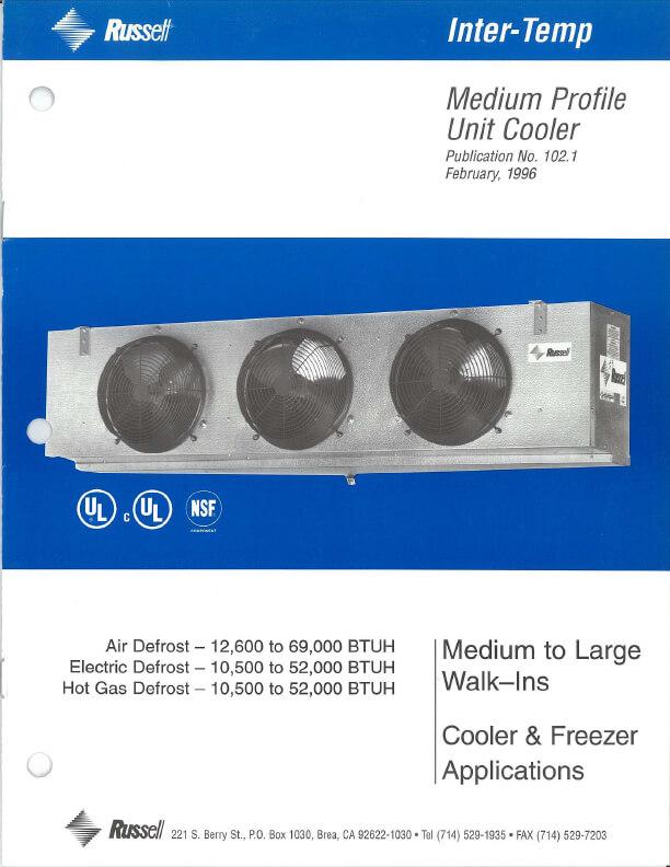 Inter-Temp Medium Profile Unit Coolers 1996