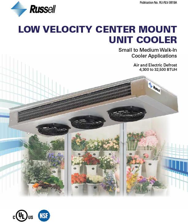 Low Velocity Center Mount Unit Coolers 2019