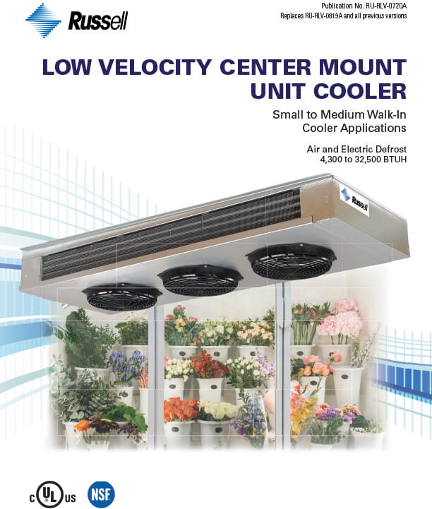 Low Velocity Center Mount Unit Coolers 2020