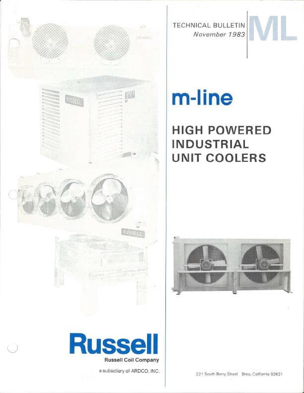 M-Line Unit Coolers 1983