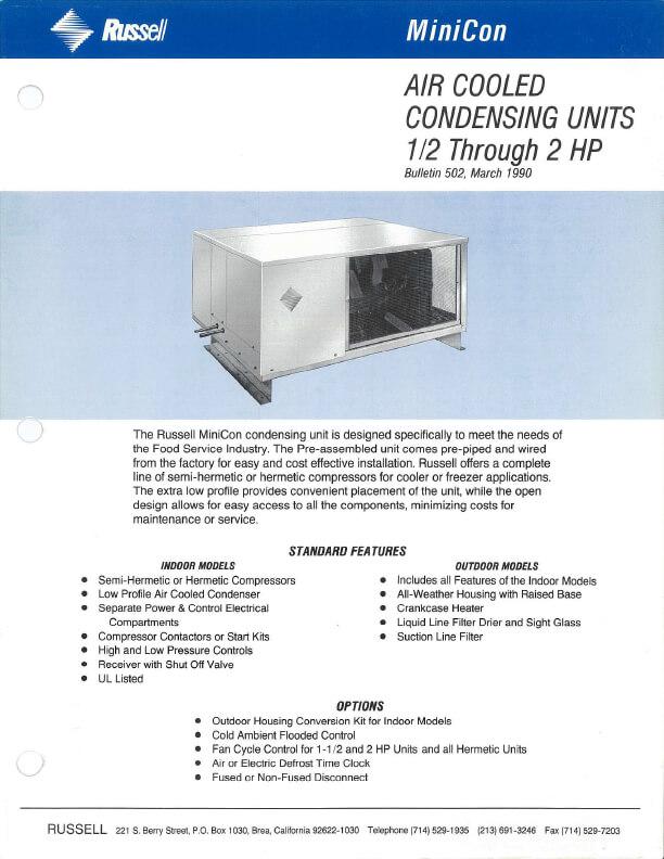 MiniCon Condensing Units 1990