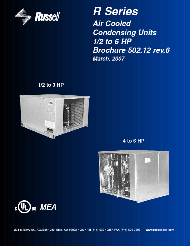 MiniCon R-Series Air Cooled Condensing Units 2007