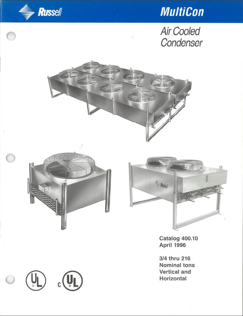 MultiCon Air Cooled Condensers 1996