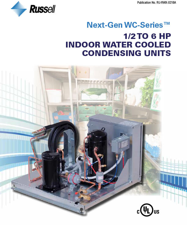 Next-Gen WC-Series Water Cooled Condensing Units 2018