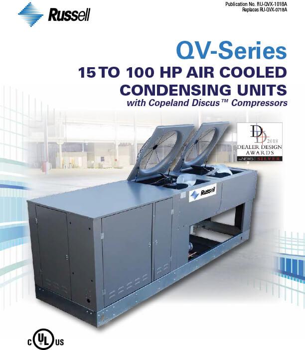QV-Series 15 to 100 HP Air Cooled Condensing Units 2018 DDA Award