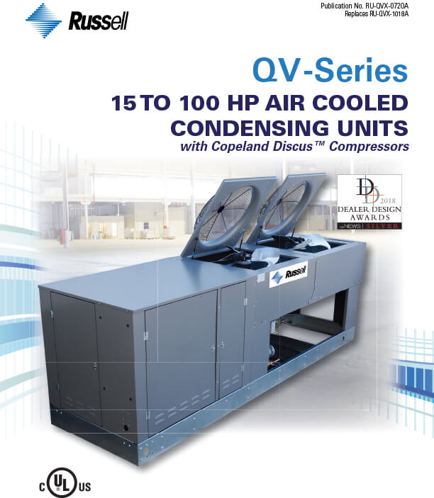 QV-Series 15 to 100 HP Air Cooled Condensing Units 2020