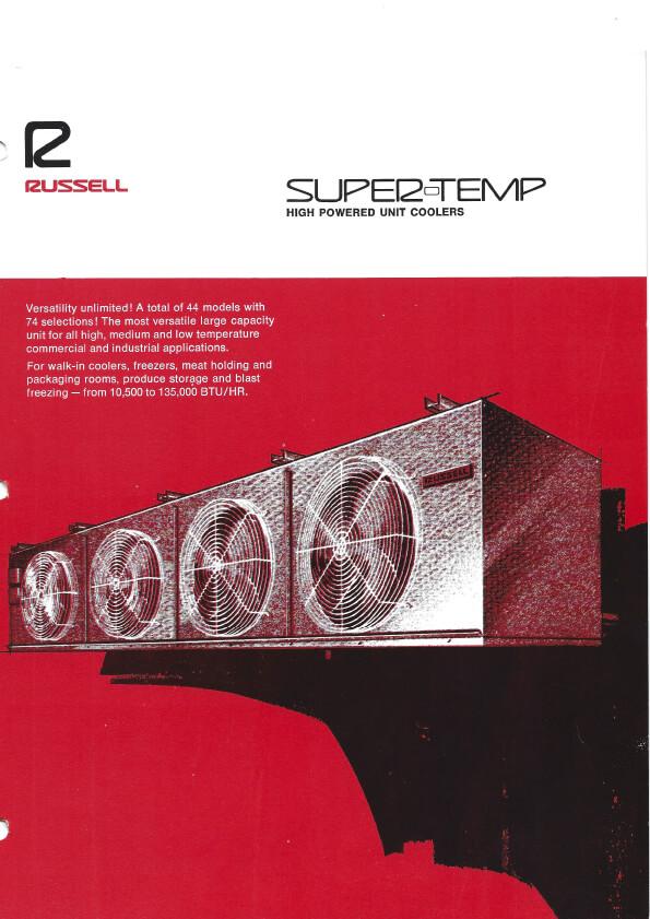 Super-Temp Unit Coolers 1974