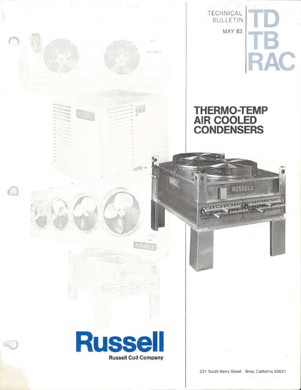 Thermo-Temp Air Cooled Condenser 1983