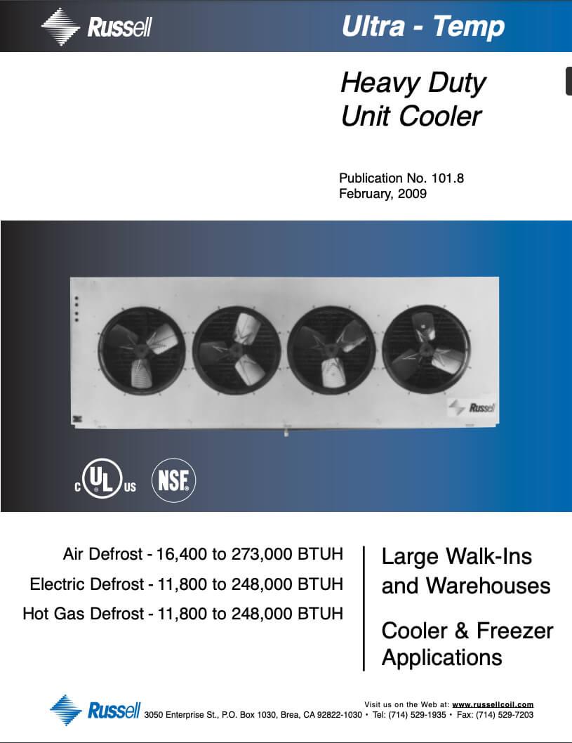 Ultra-Temp Heavy Duty Unit Coolers 2009